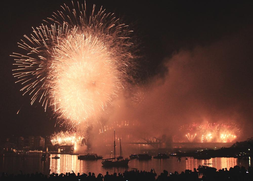 Finale of the 2015 Sydney Harbour Fireworks